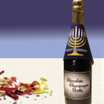 Hanukkah Chocolate Champagne Bottles (Case of 4)