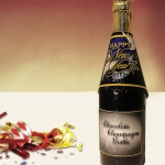 New Year Chocolate Champagne Bottle (Case of 4)