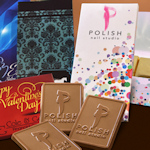 Deluxe Rectangular Logo Chocolate Trio Box