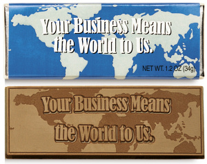 Your Business Means The World To Us Bars image