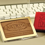 Custom Chocolate Business Card - Acrylic Case