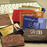 Custom Chocolate Business Card - Imprinted Box