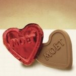 Foiled Custom Milk or Dark Chocolate Hearts (11 Colors)
