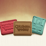 Foil Wrapped Custom Molded Chocolate Rectangles