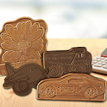 Custom Molded Chocolate Shape with Message (2 x 2)