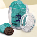 Custom Imprinted Small Jar with Chocolate Coins