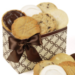 Decorative Brown Rings Cookie Gift Box