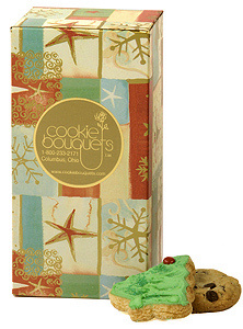 Star and Snowflake Holiday Cookie Gift Box image