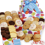 Colorful Circles Cookie Gift Tower