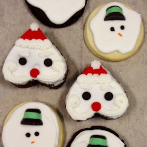 Melted Snowmen and Brownie Santas Cookie Gift Box imagerjs