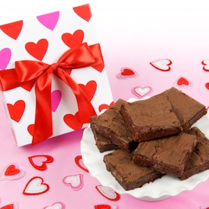 Decorative Hearts Valentine Brownie Box imagerjs