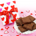Decorative Hearts Valentine Brownie Box