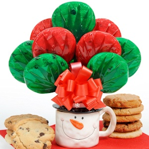 Snowman Mug Holiday Cookie Bouquet imagerjs