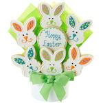 Happy Easter Iced Cookie Bouquet