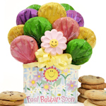 Feel Better Edible Flower Cookie Arrangement