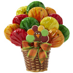 Fall Turkey Thanksgiving Cookie Bouquet