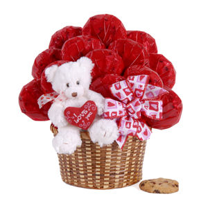 'Love You' Bear Bouquet data-pin-no-hover=