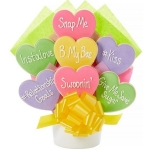 Conversation Hearts Valentine Cookie Bouquet