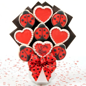 Love Bug Valentine Bouquet of Cookies imagerjs