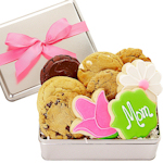 Mom & Flowers Mother's Day Cookie Gift Tin