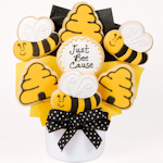 Just Bee-Cause Cookie Bouquet