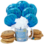 Baby Boy Cookie Mug Arrangement