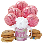 Baby Girl Cookie Mug Arrangement