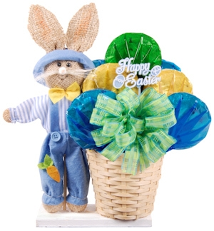 Easter Bunny Scarecrow Basket imagerjs