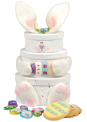Easter Bunny Cookie & Chocolate Tower imagerjs