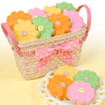 Pretty Flower Cookie Basket