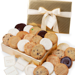 Golden Elegance Cookie Gift Box
