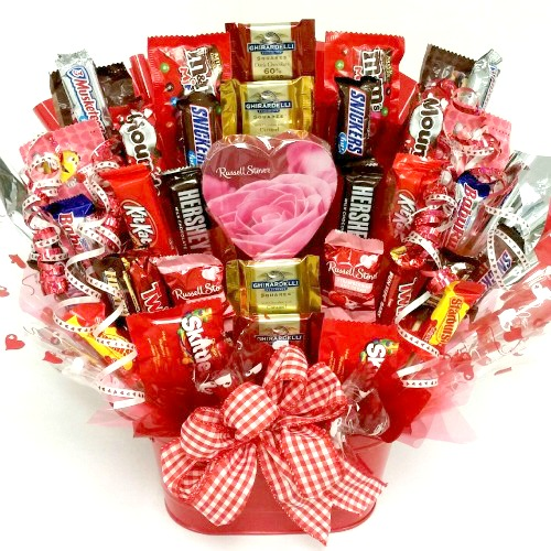 Happy valentine s day candy bouquet aa gifts baskets