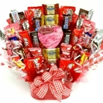 Happy Valentine's Day Candy Bouquet