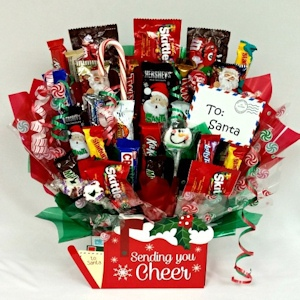 Sending You Holiday Cheer Candy Basket imagerjs