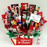 Sending You Holiday Cheer Candy Basket