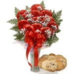 Sweetheart Longstem Cookies in a Vase