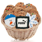 Corporate Holiday Gourmet Logo Cookie Basket