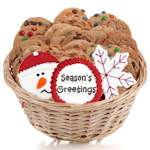 Happy Holidays Gourmet Cookie Basket