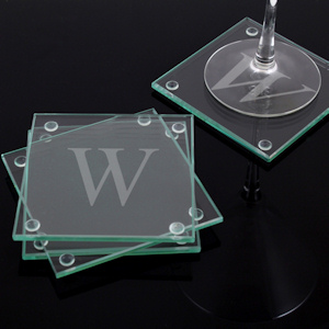Engraved Glass Coasters (Set of 4) imagerjs