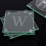 Engraved Glass Coasters (Set of 4)