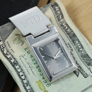 Graphite Face Watch Money Clip imagerjs