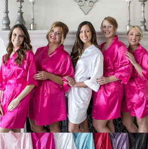 Personalized Satin Robes (7 Colors) imagerjs