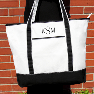Personalized Weekender Canvas Tote Bag imagerjs