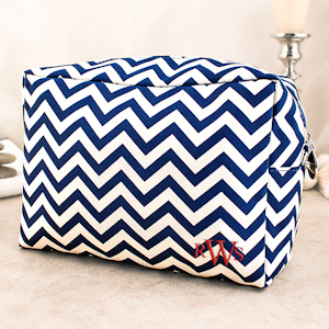 Personalized Monogram Chevron Makeup Bag (5 Colors) imagerjs