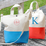Color Dipped Canvas Totes