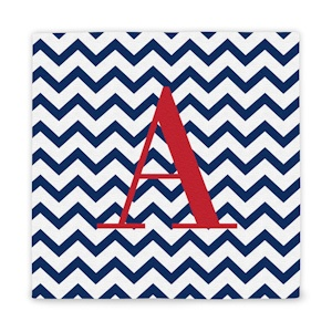 Custom Chevron Pattern Initial Wrapped Canvas imagerjs
