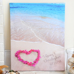 Ocean Waves Personalized Wrapped Canvas Print