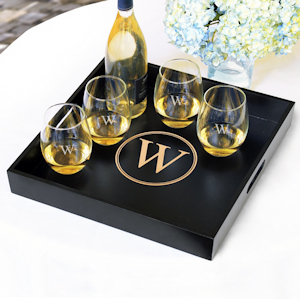 Personalized Wooden Serving Tray imagerjs