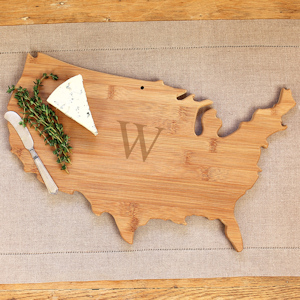 Personalized USA Wooden Serving Board imagerjs