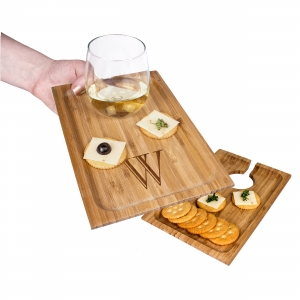 Personalized Bamboo Wine & Dine Appetizer Trays imagerjs
